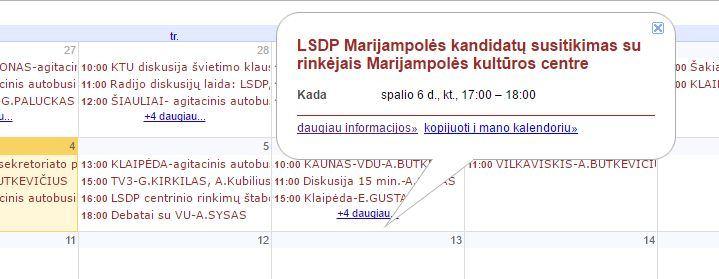 15min nuotr. /Socialdemokratų renginių kalendorius