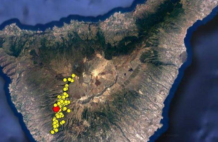 Involcan nuotr./Savaitgalį Tenerifėje užfiksuota daugybė nedidelių žemės drebėjimų