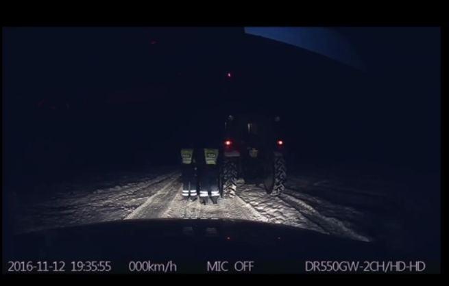 Sulaikytas traktorius