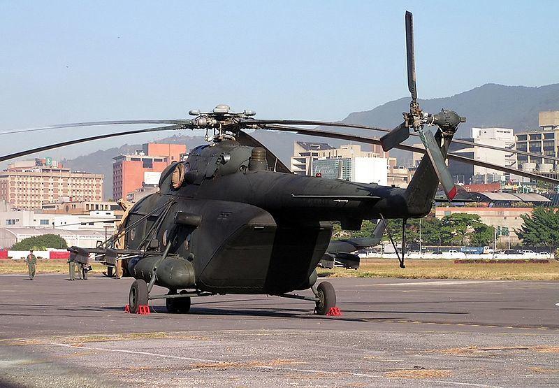 Venesuelos karinių oro pajėgų sraigtasparnis Mi-17