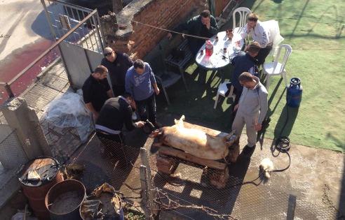 Autorės nuotr./Kartais per Kalėdas bulgarai skerdžia kiaulę ir tą pačią dieną ją iškepa