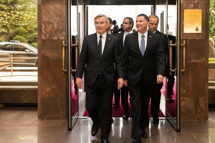 Seimo pirmininkas Viktoras Pranckietis susitiko su Kneseto pirmininku Juliu Joeliu Edelšteinu