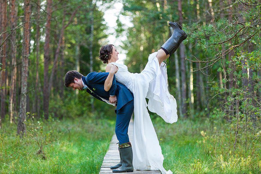 Vestuvės avint botus