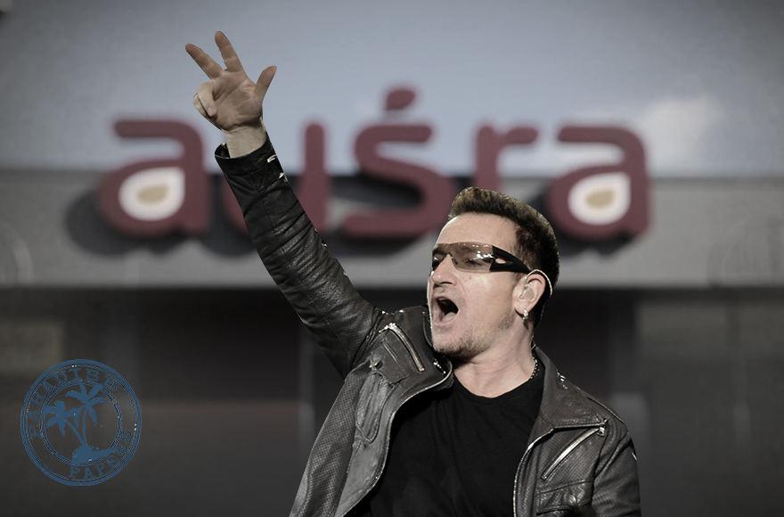 """U2 lyderis Bono jau dešimtmetį slapta investuoja į Utenoje esantį prekybos centrą """"Aušra"""""""