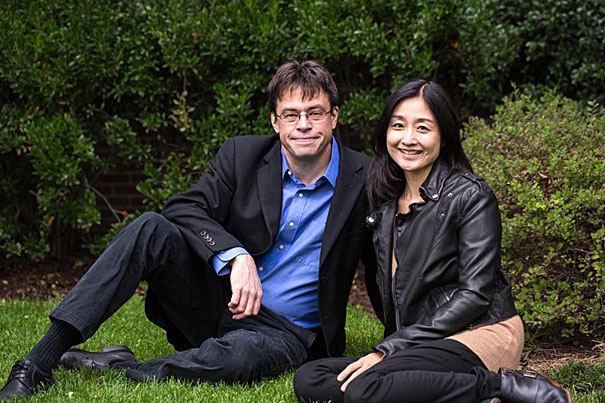 Michaelas Puettas ir rašytoja Christine Gross-Loh