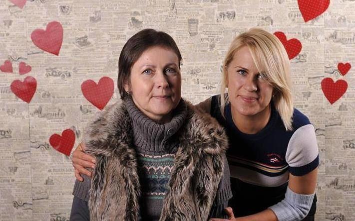 Kamilė Kielaitė-Sienkievič su mama Angele Kieliene