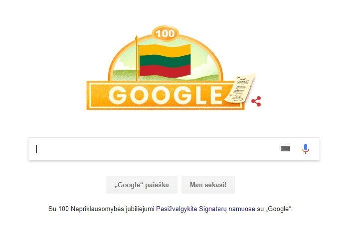 """""""Google"""" sveikinimas"""