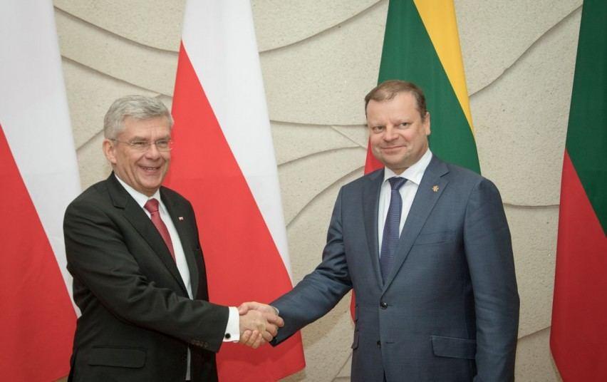 Saulius Skvernelis su Stanislawu Karczewskiu