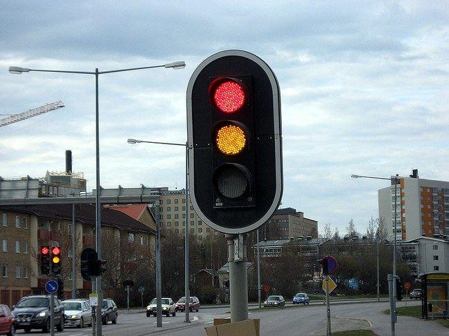 LED šviesoforai Švedijoje