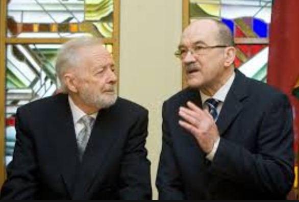 Buvęs Miškų ūkio ministras Vaidotas Antanaitis ir buvęs ministro pirmininko pavaduotojas Romualdas Ozolas