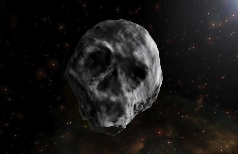 Į kaukolę panašios kometos 2015 TB145 piešinys