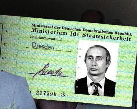 """""""Bild"""" paskelbtas esą V.Putinui išduotas """"Stasi"""" pažymėjimas"""