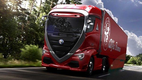 """""""Alfa Romeo"""" sunkvežimių vizualizacijos"""