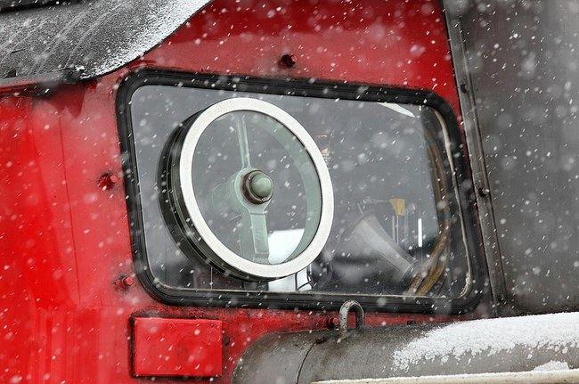 Besisukantis diskas ištaško vandenį ir sniegą (Tennen-Gas (CC BY-SA 3.0)   commons.wikimedia.org)
