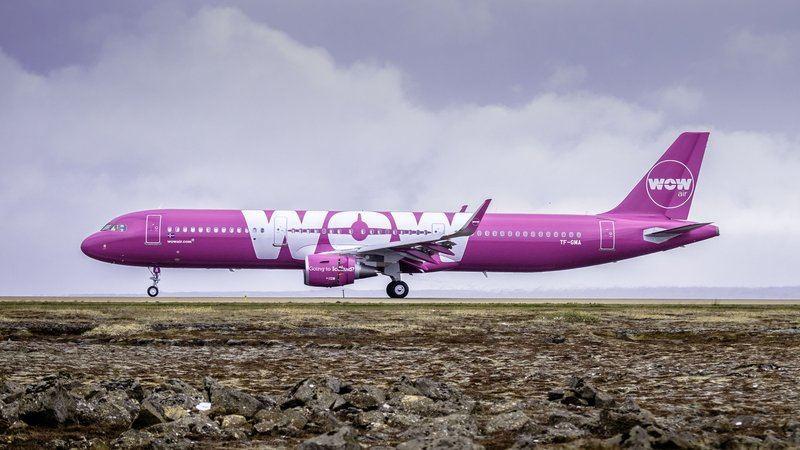 """""""WOW Air"""" lėktuvas"""