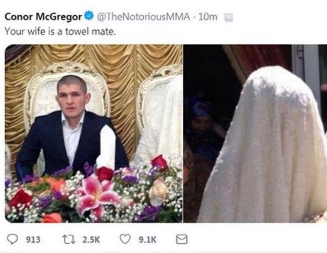 Įžeidžiantis C.McGregoro įrašas