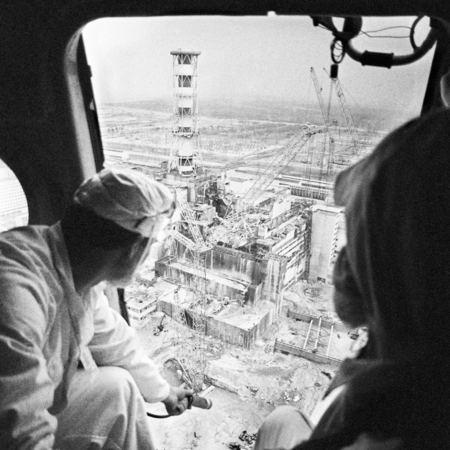 Černobylio atominė elektrinė po avarijos