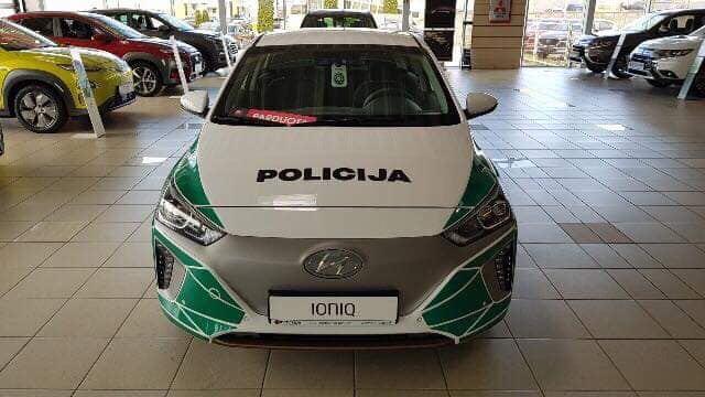 """Policijos elektromobilis """"Hyundai Ionic"""""""