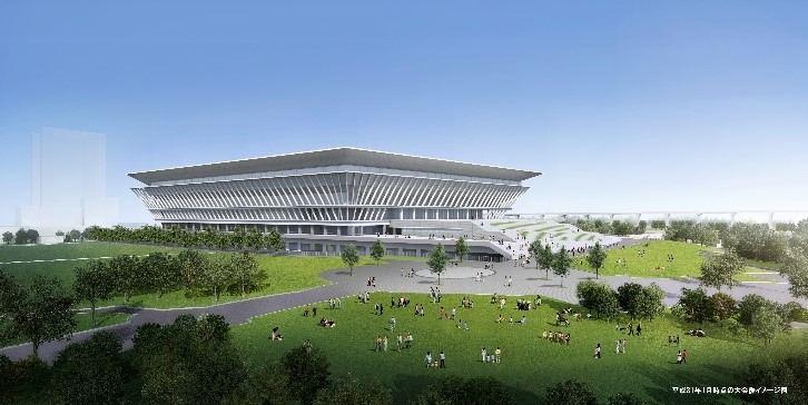 Tokijo vandens sporto centro projekto atvaizdas