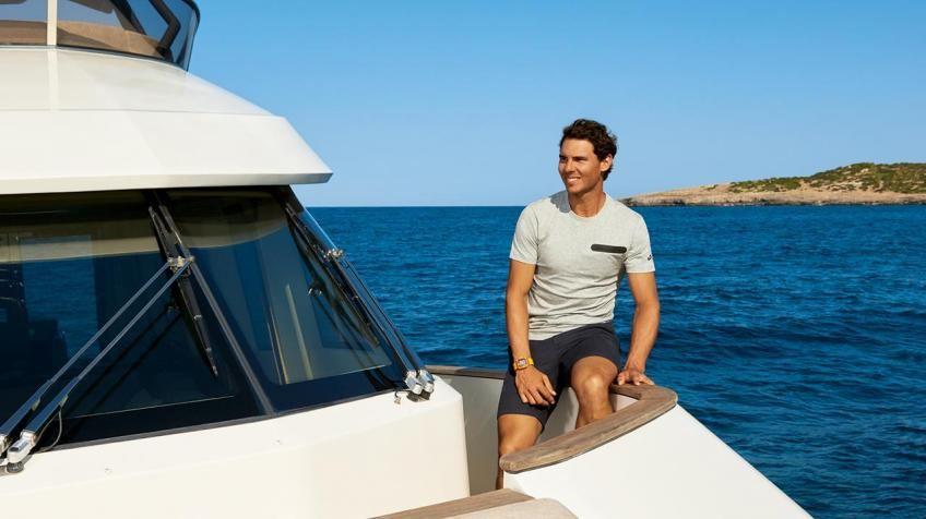 Rafaelis Nadalis savo jachtoje