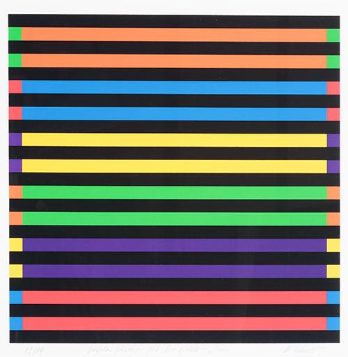 Rolandas Helmeris. Tarp juodos - nuo geltonos iki violetines. 2000