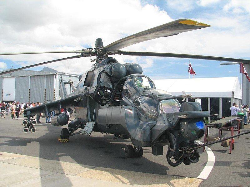 Mi-24, vadinamas skraidančiu tanku