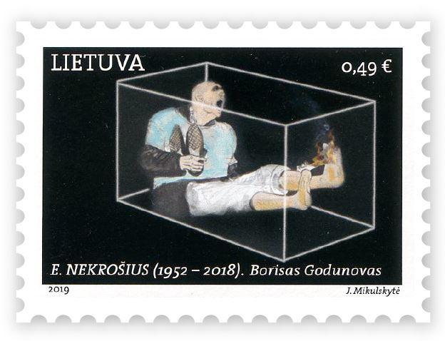 """Išleidžiamas pašto ženklas su E.Nekrošiaus spektaklio """"Borisas Godunovas""""motyvu"""