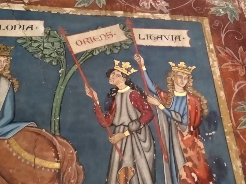 Freska Strasbūro bažnyčioje, vaizduojanti Lietuvą