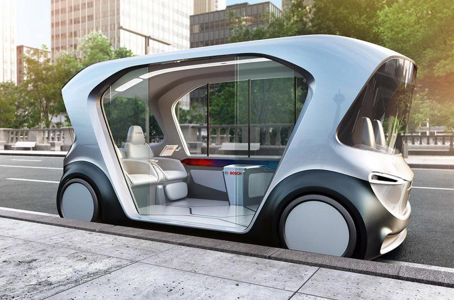 """""""Bosch"""" autonominis automobilis, pristatytas 2019-ųjų CES"""