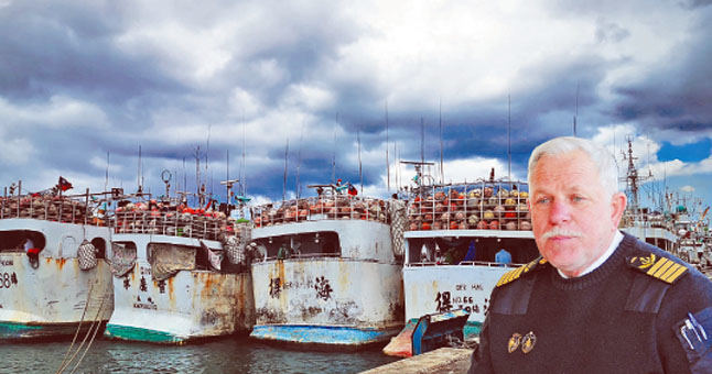 Taivano žvejų brakonierių laivai ir Kapitonas Juozas Liepuonius