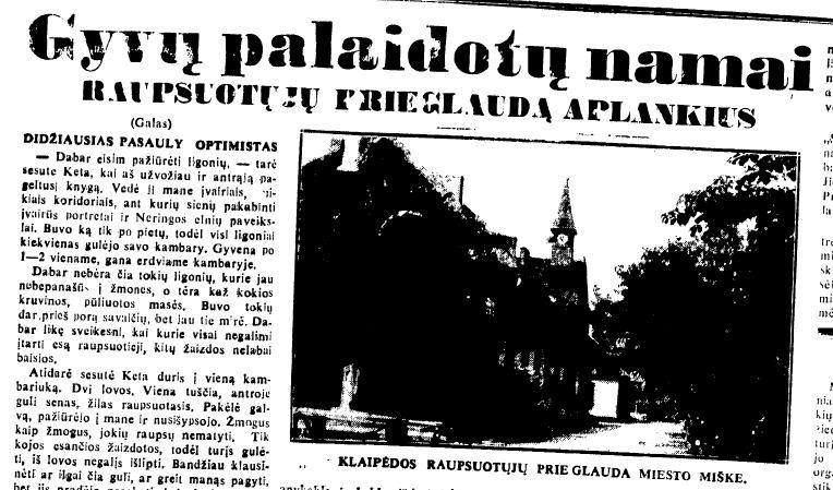 Straipsnis apie raupsus tarpukario Lietuvos laikraštyje