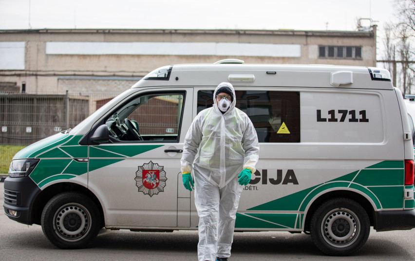 Kaip karantino metu dirba Lietuvos policija