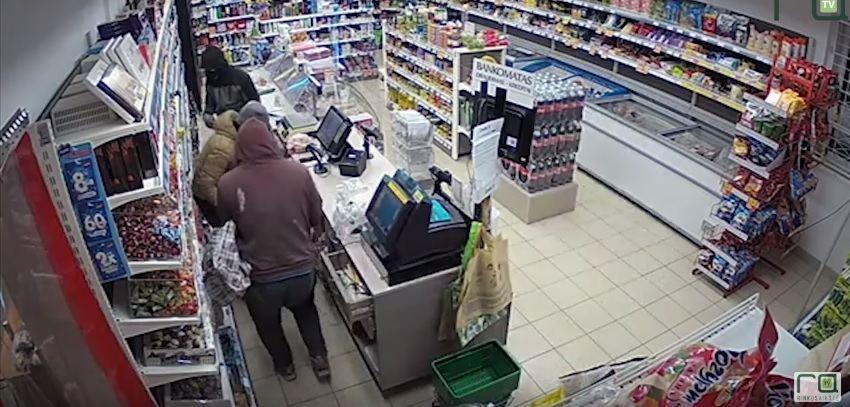 Parduotuvės plėšimas Kėdainių rajone