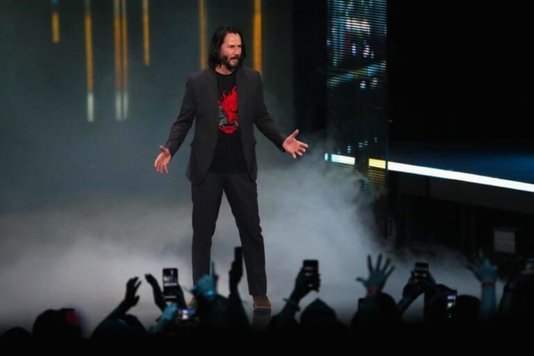 """Keanu Reeves pristato """"Cyberpunk 2077"""""""