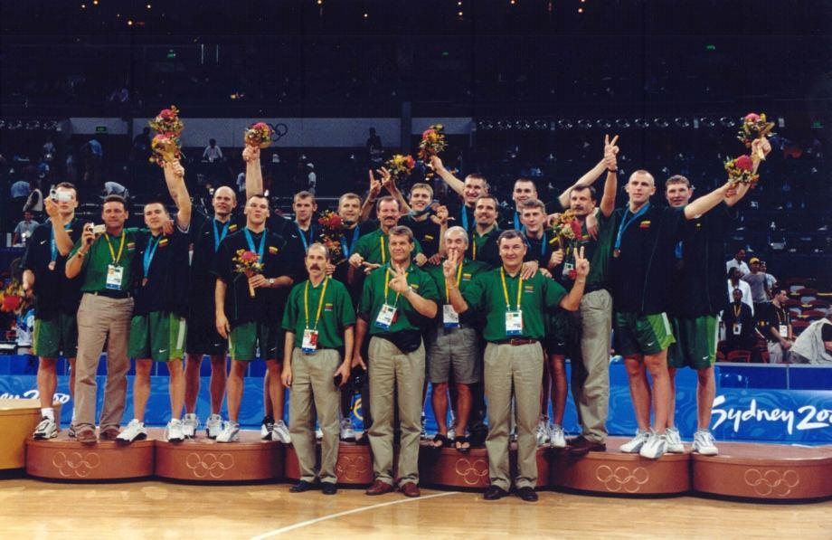 Lietuvos krepšinio rinktinė – Sidnėjaus olimpinių žaidynių prizininkė