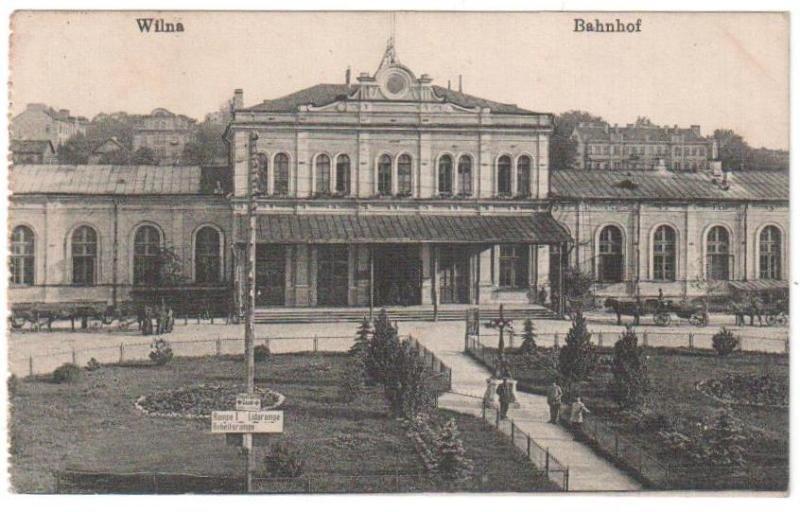 Vilniaus geležinkelio stotis XX a. pr.