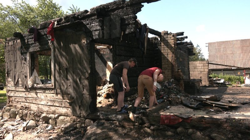 Sudegęs Jurgitos ir Vinco šeimos namas