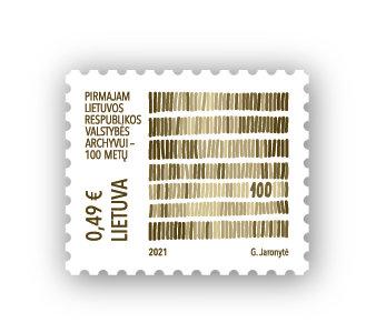Pašto ženklas Valstybės archyvams 100
