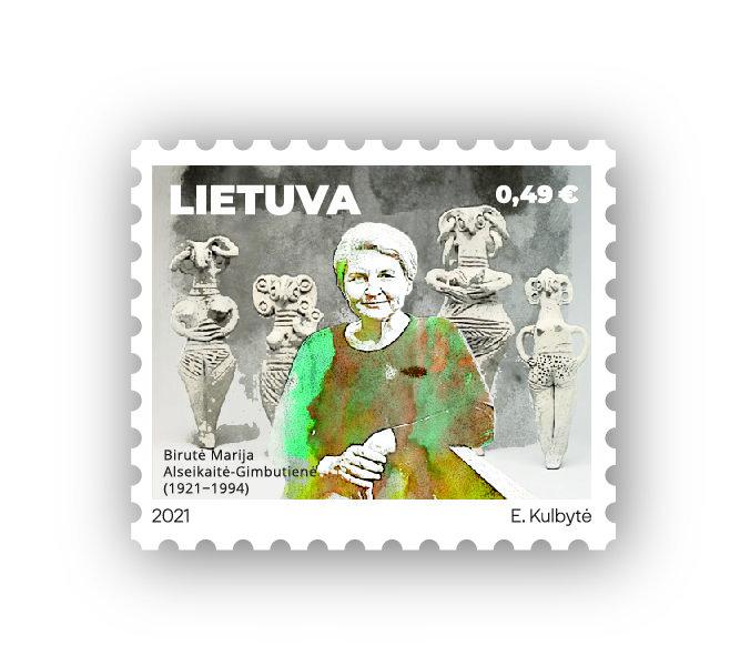 Pašto ženklas B. M. Alsekaitei-Gimbutienei