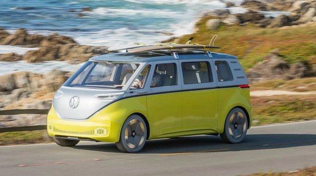"Elektrinis autobusiukas ""VW I.D. Buzz"""