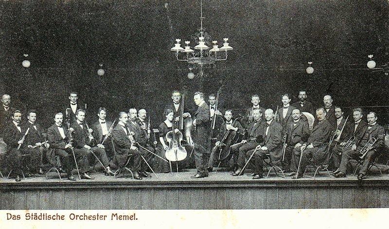 Klaipėdos miesto teatro orkestras. XX a. pr.