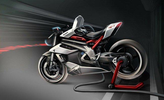 """Elektrinis motociklas """"Triumph TE-1"""""""