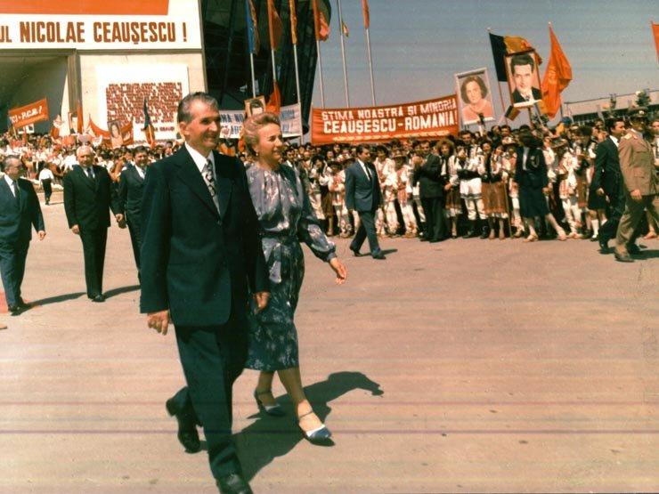 Nicolae Ceausescu su žmona 1986 m.