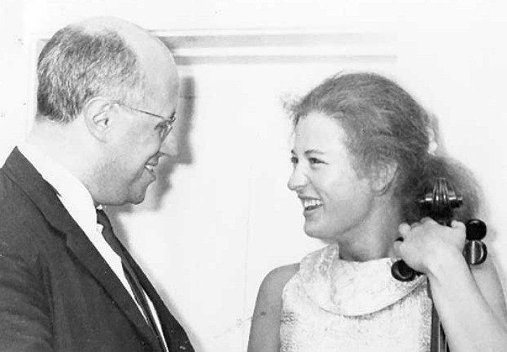 Elizabeth Wilson ir Mstislavas Rostropovičius