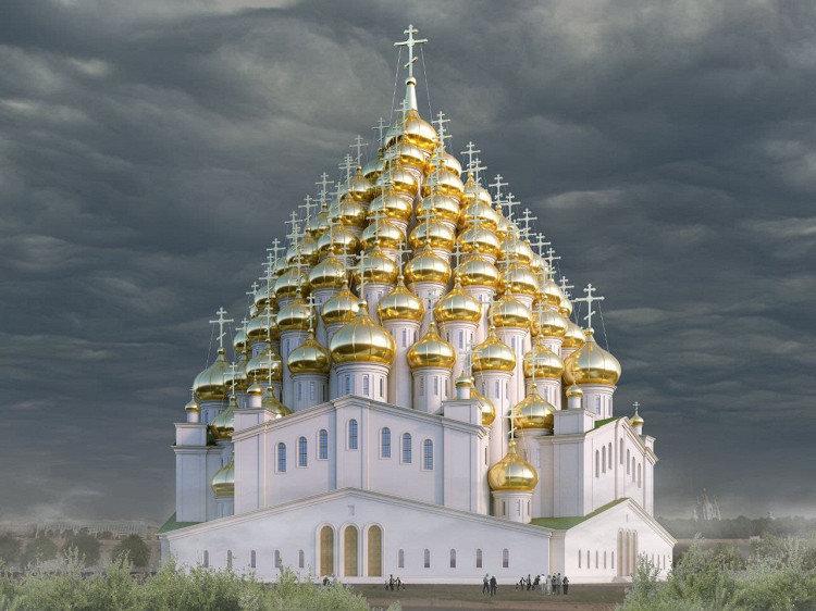 Sankt Peterburge pasiūlė pastatyti 320-ies kupolų bažnyčią