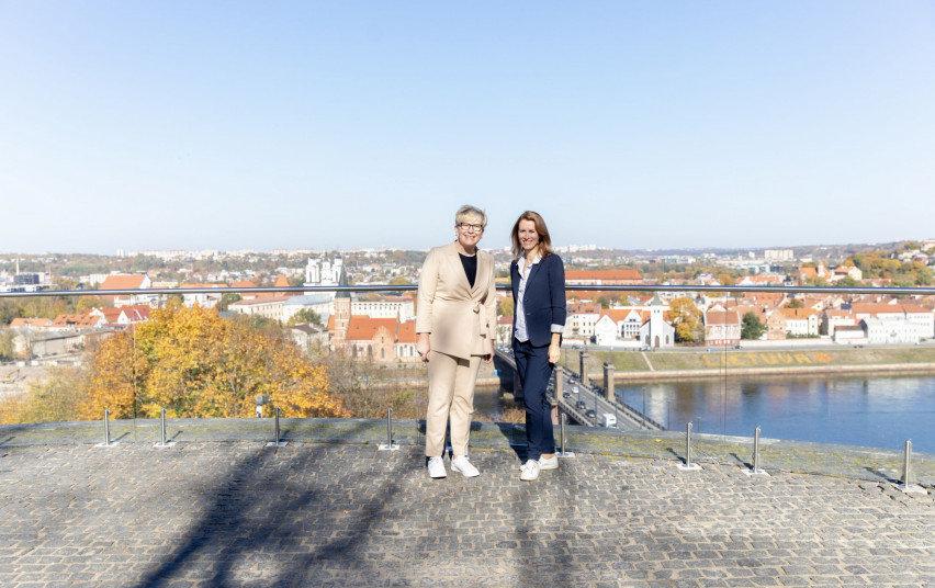 Ingrida Šimonytė ir Kaja Kallas Kaune