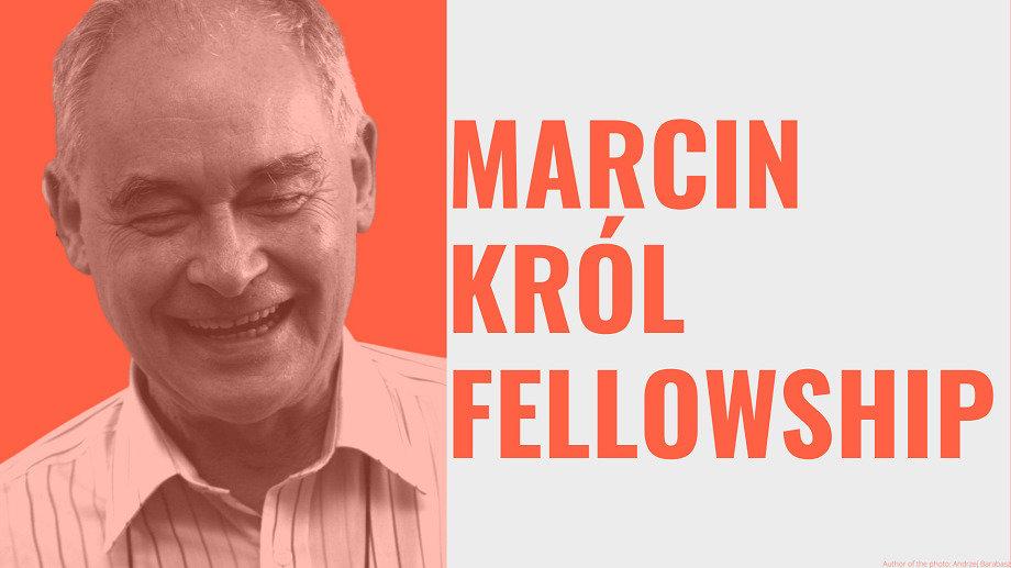 Open Call — Marcin Król Fellowship 2021-22 Deadline: 18 October 2021