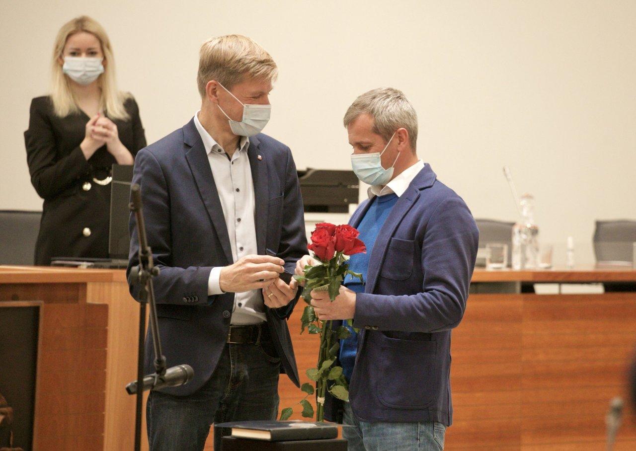 Prisiekė naujas Vilniaus miesto tarybos narys B.Bardauskas