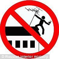 Rusijos vidaus reikalų ministerijos nuotr./Įspėjamieji asmenukių ženklai