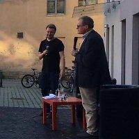 Leonidas Donskis ir Paulius Gritėnas renginyje Kaune
